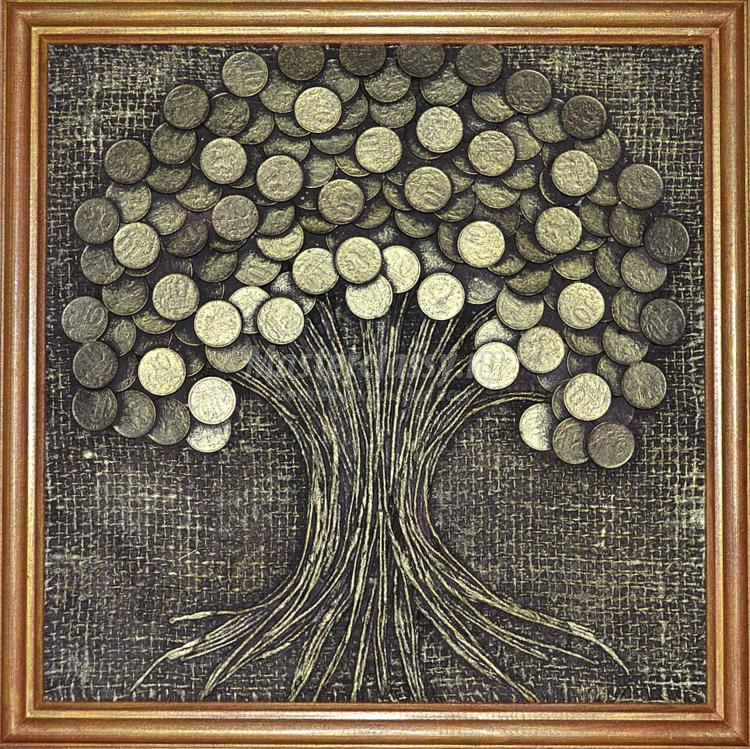 Картина с денежным деревом своими руками мастер класс